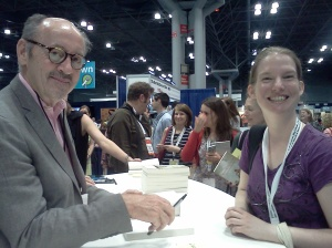 Image of Billy Collins autographing a book