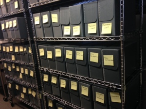 Shelves of Archival Boxes