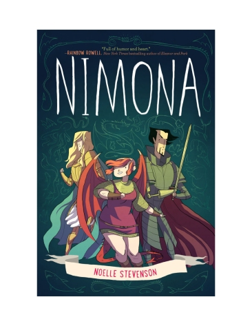 Cover image, Nimona by Noelle Stevenson